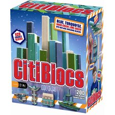 <strong>Citiblocs</strong> 200 Piece Building Block Set in Cool Colors