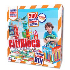 500 Piece Multicolor Construction Set with Storage Bin