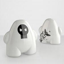 Urban Gnome Skull Figurine