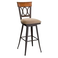 "America 26"" Cindy Upholstered Swivel Bar Stool"