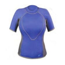 1.5mm XSPAN Women's Short Sleeve Top Wetsuit in Blue