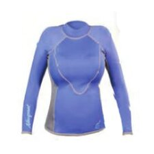 1.5mm XSPAN Women's Long Sleeve Top Wetsuit in Blue