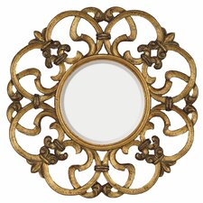 "<strong>Majestic Mirror</strong> 30"" H x 30"" W Traditional Round Bevel Wall Mirror"