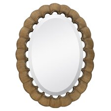 <strong>Majestic Mirror</strong> Traditional Oval Bevel Wall Mirror