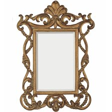 <strong>Majestic Mirror</strong> Traditional Beveled Mirror in Distressed Antique Gold