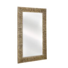 <strong>Majestic Mirror</strong> Traditional Rectangular Bevel Wall Mirror