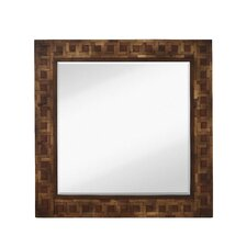 <strong>Majestic Mirror</strong> Mixed Media Square Bevel Wall Mirror