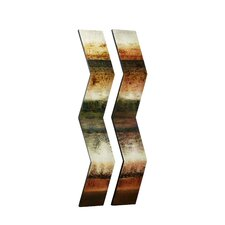<strong>Majestic Mirror</strong> Mixed Media Dimensional Art Sticks (Set of 2)