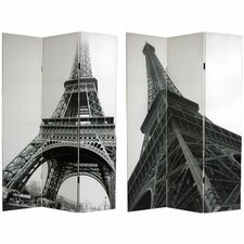 "<strong>Oriental Furniture</strong> 70.88"" x 47.25"" Eiffel Tower 3 Panel Room Divider"
