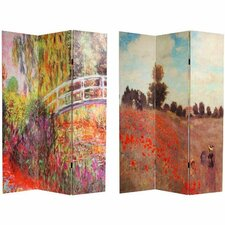 "70.88"" x 47.25"" Works of Monet 3 Panel Room Divider"