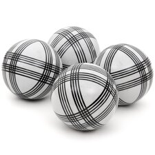 4 Piece Sophisticated Stripes Decorative Ball Set