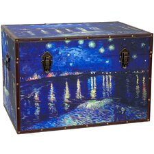 <strong>Oriental Furniture</strong> Van Gogh's Starry Night Over the Rhone Trunk