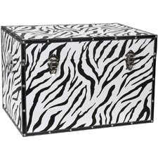 Faux Leather Zebra Trunk