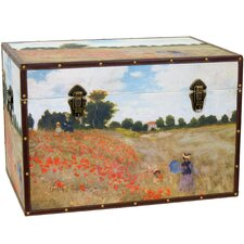 <strong>Oriental Furniture</strong> Monet's Poppies Trunk