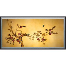 Birds on Plum Tree Framed Painting Print