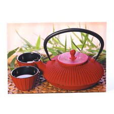 Red Teapot Photographic Print on Canvas