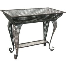 <strong>Oriental Furniture</strong> Wrought Iron Sundry Pedestal Plant Stand
