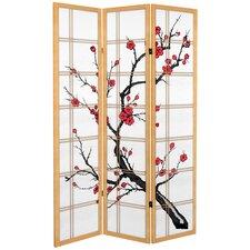 """71"""" x 47.25"""" Tall Blossom 3 Panel Room Divider"""