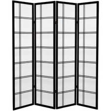 "71"" x 63"" Double Cross 4 Panel Room Divider"
