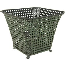 <strong>Oriental Furniture</strong> Square Wrought Iron Waste Basket