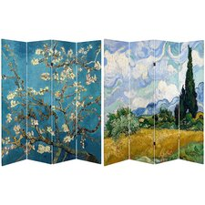 6 Feet Tall Double Sided Almond Blossoms / Wheat Field Room Divider