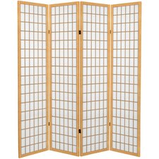 "71"" x 63"" Window Pane 4 Panel Room Divider"