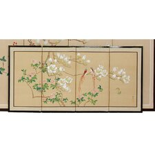"18"" x 36"" Love Birds 4 Panel Room Divider"