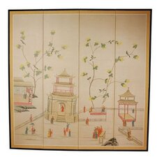 "72"" x 72"" The Pagoda Enter 4 Panel Room Divider"