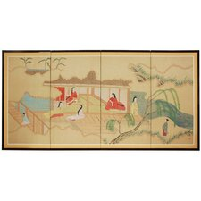 "<strong>Oriental Furniture</strong> 24"" Riverside Serenity 4 Panel Room Divider"