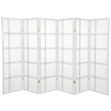 "60"" Double Cross Shoji Screen 3 Panel Room Divider"