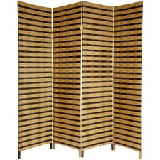 "<strong>Oriental Furniture</strong> 71"" x 56"" Jute Shoji 4 Panel Room Divider"
