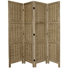 "67"" Tall Bamboo Matchstick Woven 4 Panel Room Divider"