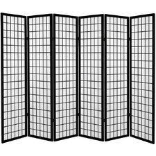 "71"" x 94.5"" Window Pane 6 Panel Room Divider"