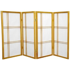 "35.75"" Double Cross Shoji Screen 4 Panel Room Divider"