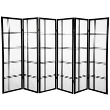 "60"" Double Cross Shoji Screen 6 Panel Room Divider"