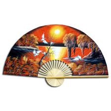 Asian Sunrise Fan Wall Décor