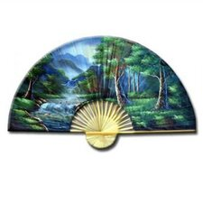 <strong>Oriental Furniture</strong> Asian Forest Oriental Fan Wall Décor