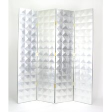 "<strong>Oriental Furniture</strong> 70"" x 60"" Star 4 Panel Room Divider"