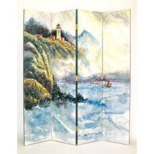 "72"" x 64"" High Sea 4 Panel Room Divider"