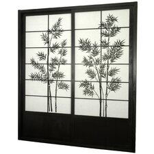 "<strong>Oriental Furniture</strong> 83"" x 73.5"" Bamboo Tree Shoji Sliding Room Divider"