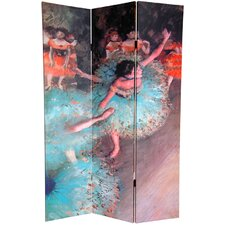 "<strong>Oriental Furniture</strong> 72"" x 48"" Double Sided Works of Degas 3 Panel Room Divider"