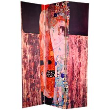 "72"" x 48"" Double Sided Works of Klimt 3 Panel Room Divider"