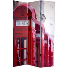 "72"" x 48"" Double Sided London 3 Panel Room Divider"
