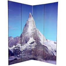 6 Feet Tall Double Sided Matterhorn/Everest Canvas Room Divider