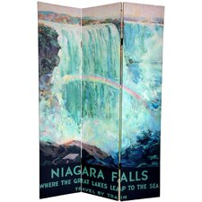 "72"" x 48"" Double Sided Niagara Falls 3 Panel Room Divider"