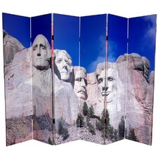 6 Feet Tall Double Sided Monuments Canvas Room Divider