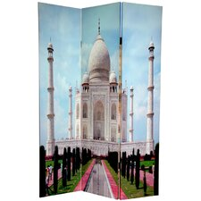 "<strong>Oriental Furniture</strong> 70.88"" x 47.25"" Taj Mahal 3 Panel Room Divider"