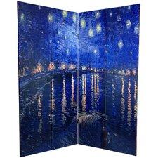 "70.88"" x 63"" Works of Van Gogh 4 Panel Room Divider"