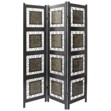 "<strong>Oriental Furniture</strong> 71"" x 53"" Coco Twig 3 Panel Room Divider"