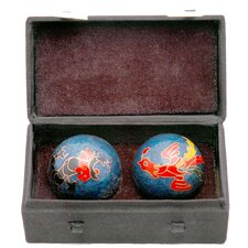 <strong>Oriental Furniture</strong> 2 Piece Dragons and Phoenix Health Decorative Ball Set